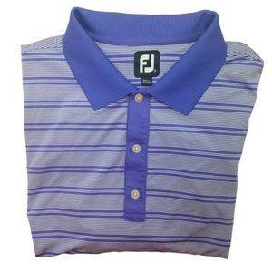 Footjoy Purple Stripe Golf Polo Shirt 2XL